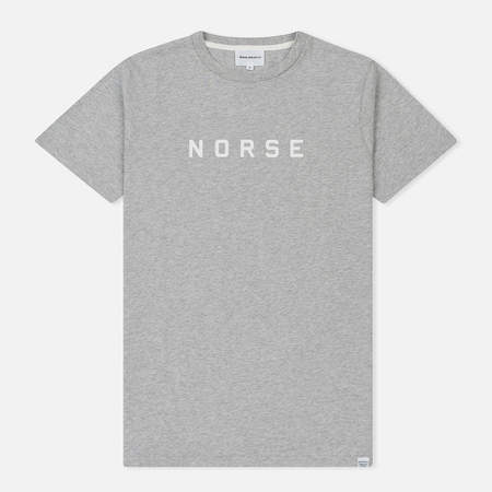 Мужская футболка Norse Projects Niels Standard Logo Light Grey Melange