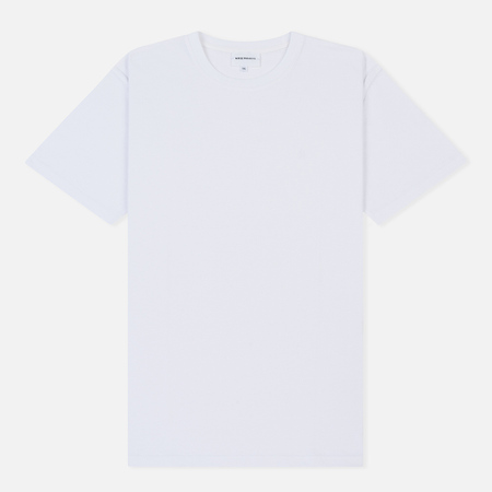 Мужская футболка Norse Projects Niels Standard Logo Patch White