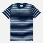 Мужская футболка Norse Projects Niels Stripe Dark Indigo фото- 0