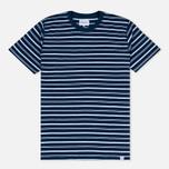 Norse Projects Niels Stripe Men's T-shirt Dark Indigo photo- 0