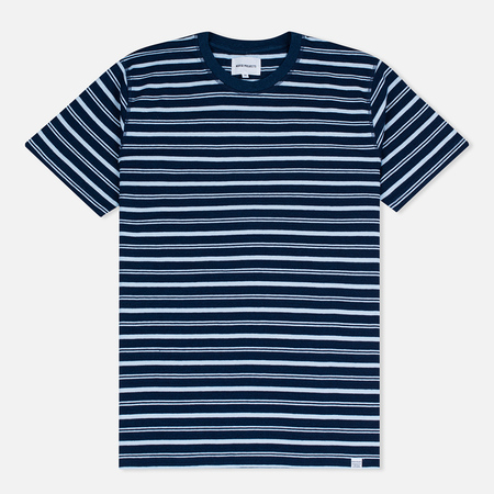 Мужская футболка Norse Projects Niels Stripe Dark Indigo
