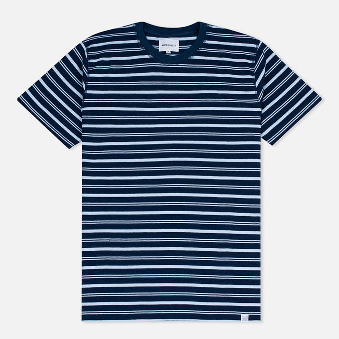 Norse Projects Niels Stripe Men's T-shirt Dark Indigo