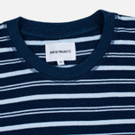 Мужская футболка Norse Projects Niels Stripe Dark Indigo фото- 1