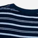 Мужская футболка Norse Projects Niels Stripe Dark Indigo фото- 3