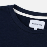 Мужская футболка Norse Projects Rasmus Slub Cotton SS Navy фото- 2