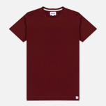 Norse Projects Rasmus Slub Cotton SS Men's T-Shirt Red Clay photo- 0