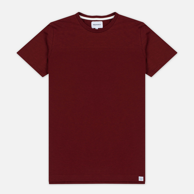 Norse Projects Rasmus Slub Cotton SS Men's T-Shirt Red Clay