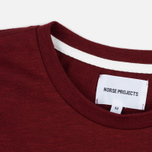 Norse Projects Rasmus Slub Cotton SS Men's T-Shirt Red Clay photo- 1