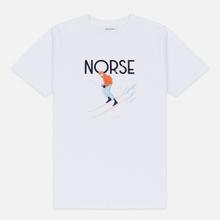 Мужская футболка Norse Projects x Daniel Frost Racing Skier White фото- 0