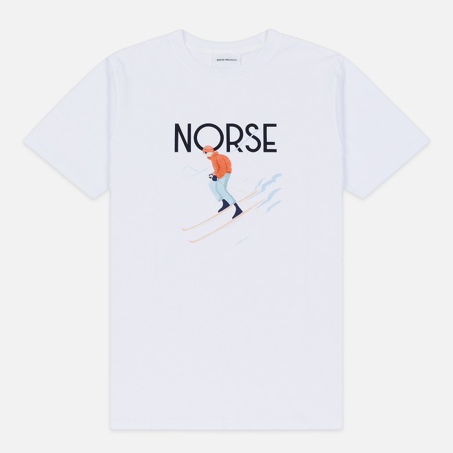 Мужская футболка Norse Projects x Daniel Frost Racing Skier White