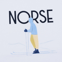Мужская футболка Norse Projects x Daniel Frost Standing Skier White фото- 2