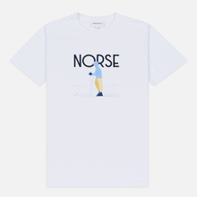 Мужская футболка Norse Projects x Daniel Frost Standing Skier White фото- 0