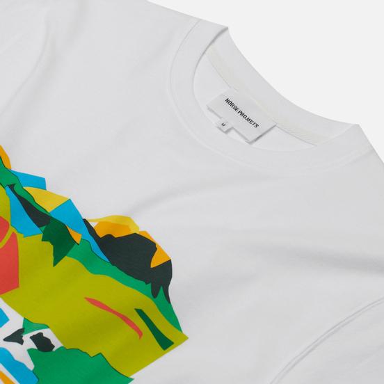 Мужская футболка Norse Projects x Jeremie Fischer View White