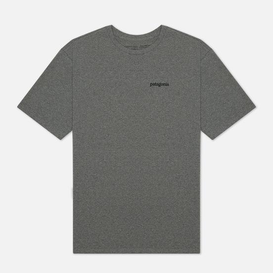 Мужская футболка Patagonia Fitz Roy Horizons Logo Gravel Heather