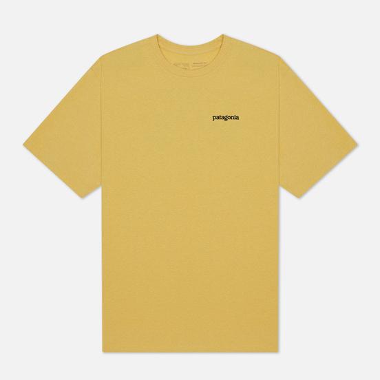 Мужская футболка Patagonia Fitz Roy Horizons Logo Surfboard Yellow
