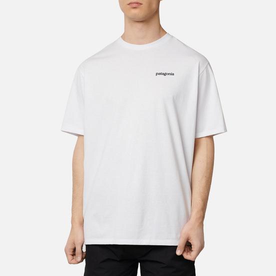 Мужская футболка Patagonia Fitz Roy Horizons Logo White