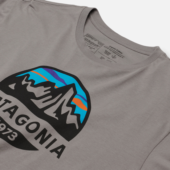 Мужская футболка Patagonia Fitz Roy Scope Organic Feather Grey