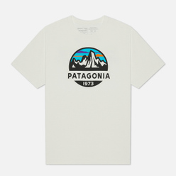 Мужская футболка Patagonia Fitz Roy Scope Organic White