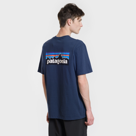 Мужская футболка Patagonia P-6 Logo Classic Navy