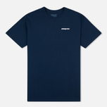 Мужская футболка Patagonia P-6 Logo Cotton Navy Blue фото- 0