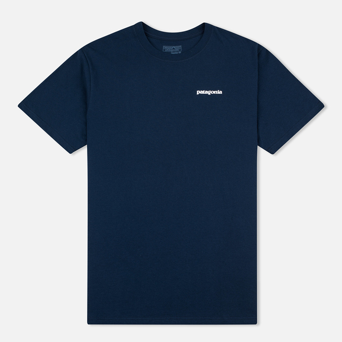Мужская футболка Patagonia P-6 Logo Cotton Navy Blue