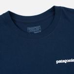 Мужская футболка Patagonia P-6 Logo Cotton Navy Blue фото- 1