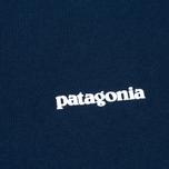 Мужская футболка Patagonia P-6 Logo Cotton Navy Blue фото- 2