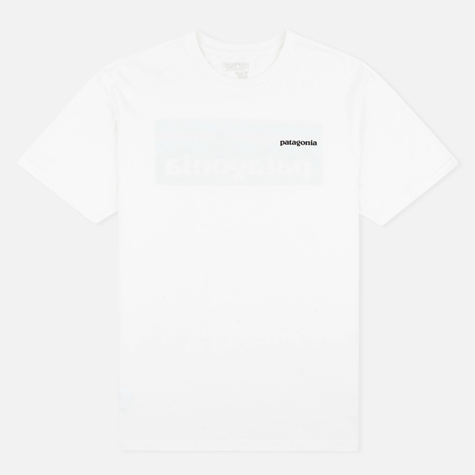 Мужская футболка Patagonia P-6 Logo Cotton White