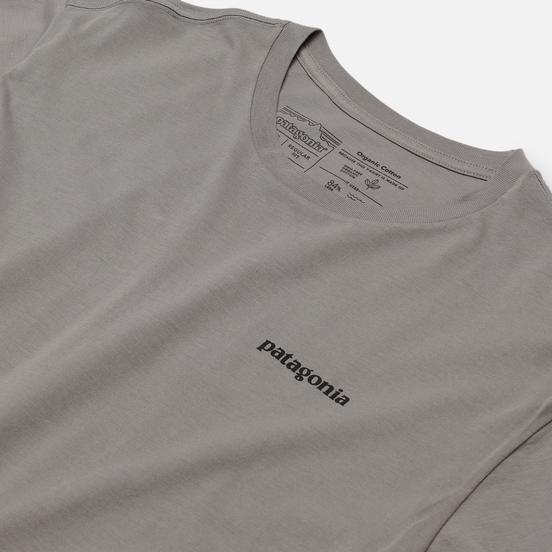 Мужская футболка Patagonia P-6 Logo Organic Feather Grey