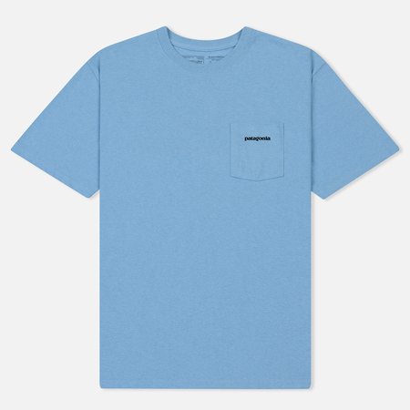 Мужская футболка Patagonia P-6 Logo Pocket Break Up Blue