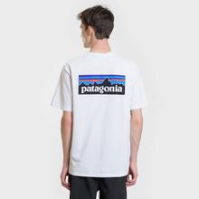 Мужская футболка Patagonia P-6 Logo White фото- 4