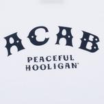 Мужская футболка Peaceful Hooligan ACAB White фото- 2
