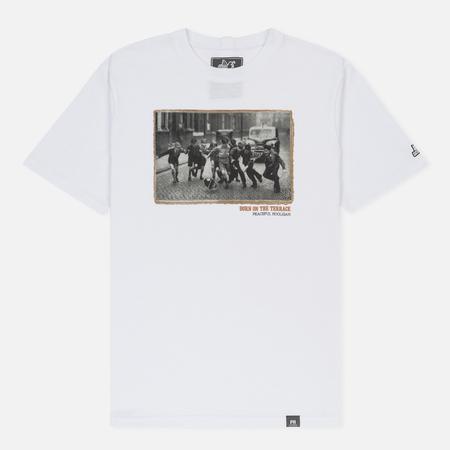 Мужская футболка Peaceful Hooligan Born On The Terraces White