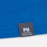 Peaceful Hooligan Casuals Men's T-shirt Bright Blue photo- 4