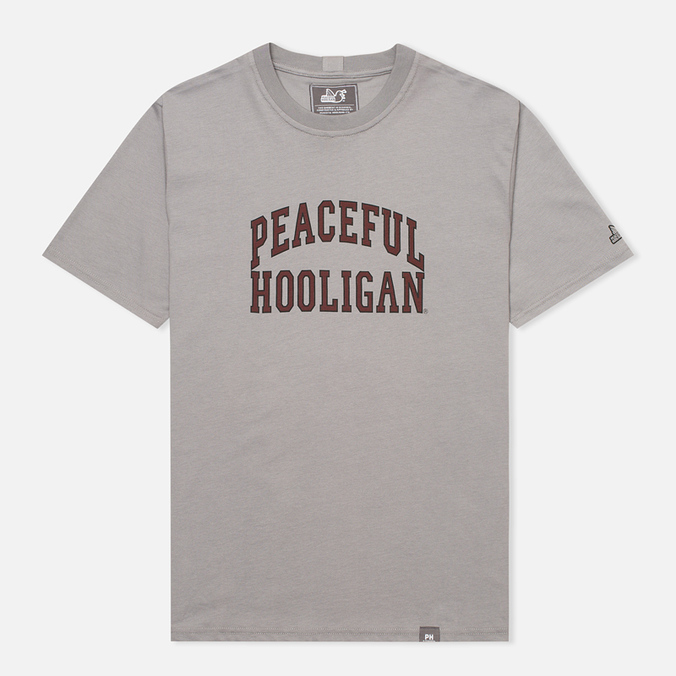 Peaceful Hooligan College Men's T-shirt Frost Grey
