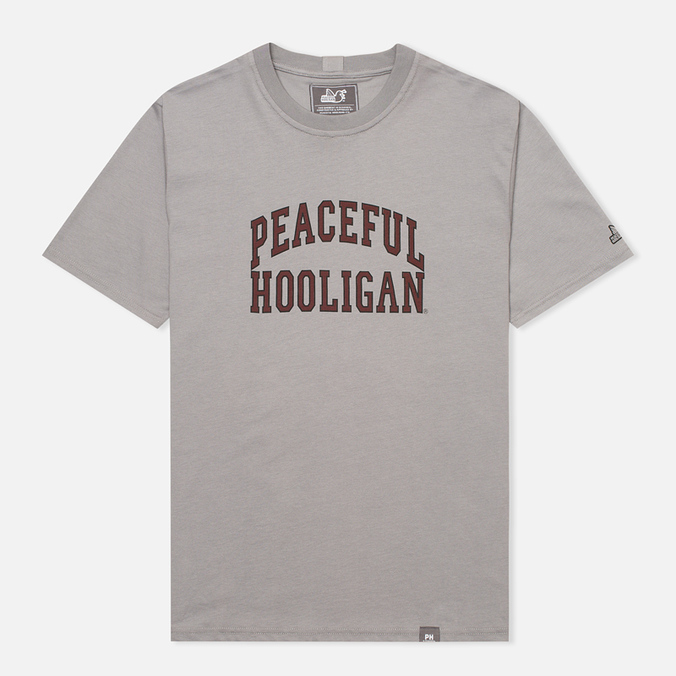 Мужская футболка Peaceful Hooligan College Frost Grey