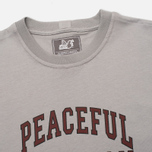 Peaceful Hooligan College Men's T-shirt Frost Grey photo- 1