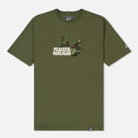 Мужская футболка Peaceful Hooligan Damo Khaki