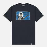 Мужская футболка Peaceful Hooligan Dangerous Navy фото- 0