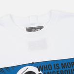 Мужская футболка Peaceful Hooligan Dangerous White фото- 1