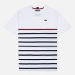 Peaceful Hooligan Deck Men's T-shirt White/Navy/Jester Red photo- 0