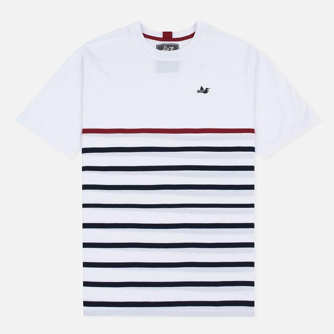 Peaceful Hooligan Deck Men's T-shirt White/Navy/Jester Red