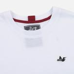 Peaceful Hooligan Deck Men's T-shirt White/Navy/Jester Red photo- 1