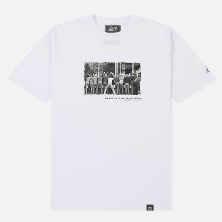 Мужская футболка Peaceful Hooligan Five White