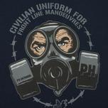Мужская футболка Peaceful Hooligan Gas Navy фото- 2