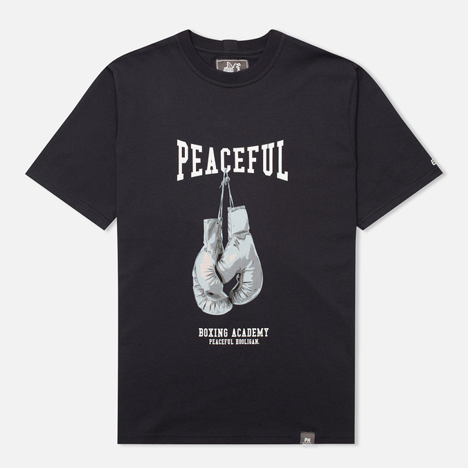 Peaceful Hooligan Gloves Men's T-shirt Navy