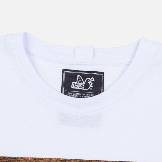Мужская футболка Peaceful Hooligan Goal White