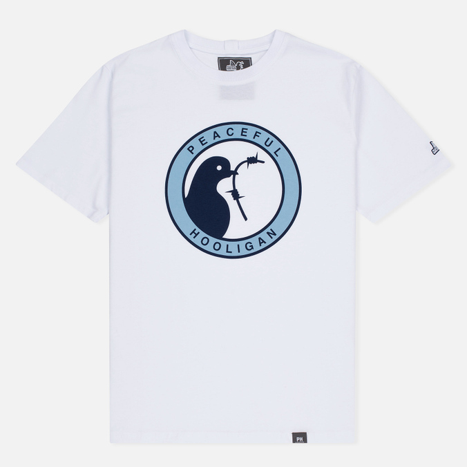 Мужская футболка Peaceful Hooligan Heads White