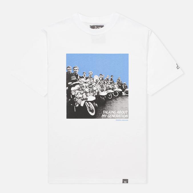 Мужская футболка Peaceful Hooligan Mod White
