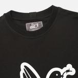 Peaceful Hooligan Outline Dove Men's T-shirt Black photo- 1
